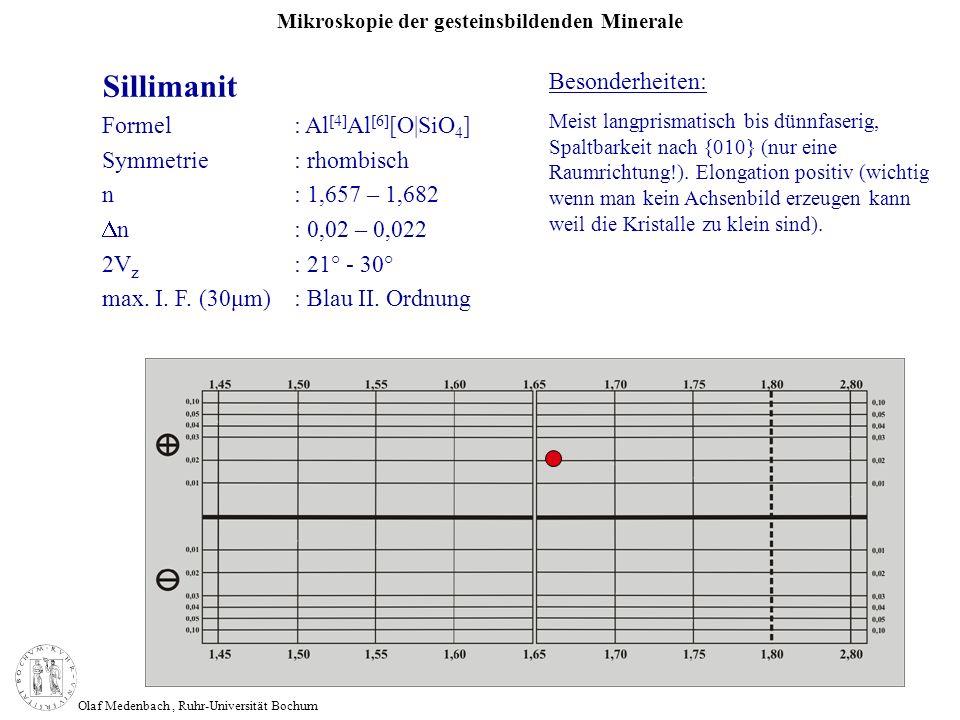 Sillimanit Besonderheiten: Formel : Al[4]Al[6][O|SiO4]